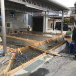 上田市 W様邸 駐車場土間コンクリート工事