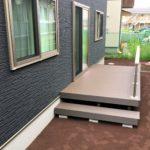 上田市N様邸の人工木デッキ 階段フェンス施工をおこないました