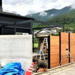 坂城町 M様邸 外構工事(オリジナルデザインの木製フェンス)